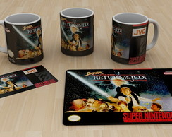 Kit caneca + Mouse Pad, Nintendo Star wars jedi