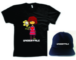 Camiseta e boné do Undertale