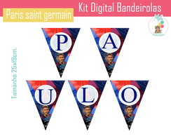 Kit Digital Bandeirolas paris saint germain