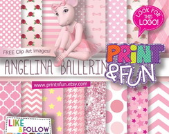 Kit Papel Digital Angelina bailarina rosa