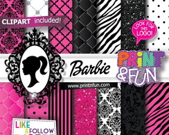 Kit Papel Digital Barbie