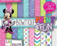 Kit Papel Digital Minnie boutique