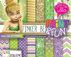 Kit Papel Digital Tinker Bell