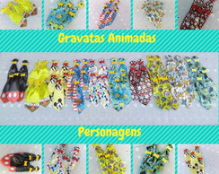 30 Gravatas pet Estampas Animadas