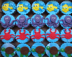 Mini Cupcake Fundo do Mar