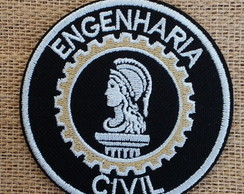 Patch Bordado termocolante ENGENHARIA CIVIL