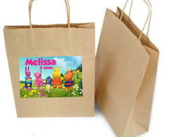 Sacolinha Personalizada Backyardigns (Papel Kraft)