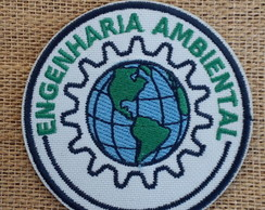 Patch Bordado Termocolante ENGENHARIA AMBIENTAL