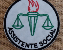 Patch Bordado termocolante ASSISTENTE SOCIAL