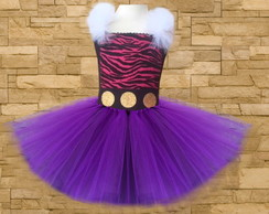 Vestido de tutu - fantasia - Monster High