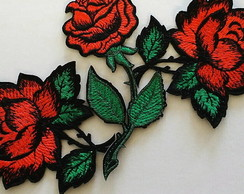 Patch Bordado termocolante ROSAS