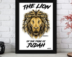 Quadro Evangélico 25x35 - The Lion of Judah