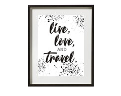 Poster Live-love-travel