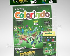 Kit Colorir Ben 10 + Brindes