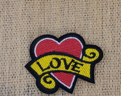 Patch Bordado termocolante LOVE HEART