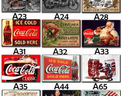 Placas decorativas retro vintage