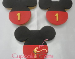 Biscoito decorado - Mickey e Minie
