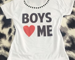 Baby look Customizada - Boys love Me