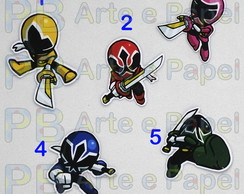 Aplique Topper Recorte Power Rangers Samurai 5cm