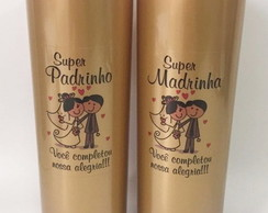 COPO LONG DRINK PADRINHO/MADRINHA - GOLD