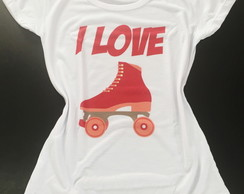 Camiseta Infantil - I love Patins
