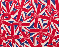 **Tecido Estampado para Patchwork Keep Calm London