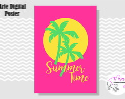 POSTER SUMMER TIME - ARTE DIGITAL