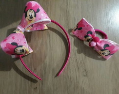 Kit da Minnie(arco + xuxinha)