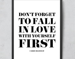 Quadro Frase - Love yourself 30x40cm