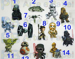 Aplique Topper Recorte Star Wars 5cm