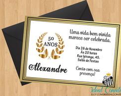 Convite Para Aniversário 50 Anos Elo7