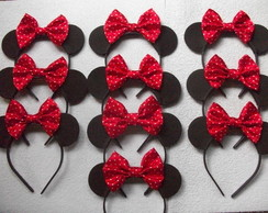 Tiaras da Minnie - Kit com 10 unidades.