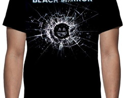 Camiseta Série Black Mirror - Estampa Total