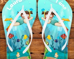 CHINELO PERSONALIZADO - FUNDO DO MAR