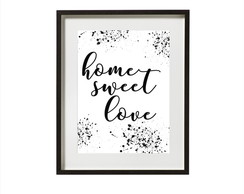 Poster Home sweet love