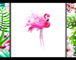 Kit de arte digital - Flamingos Tropical