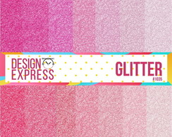 Kit Papel Digital - Glitter rosa