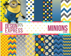 kit papel digital - Minions