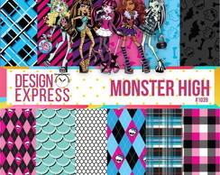 Kit Papel Digital - Monster High