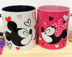Par de canecas Mickey & Minnie