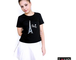 Camiseta Paris - baby look M