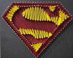 Quadro String Art SuperMan