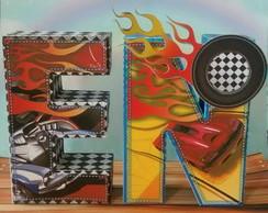 Letra 3D Hot Wheels Scrap