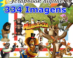 Scrapbook Digital Madagascar - O Mais Completo Do Site