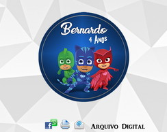 Rótulo Tag PJ MASKS DIGITAL