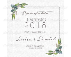 Save The Date Flores 12 Digital Personalize seu Sonho Agora