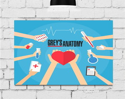 Placas Decorativas Quadro Grey´s Anatomy