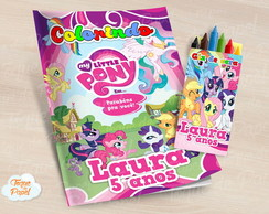 Kit colorir com giz de cera My Little Pony