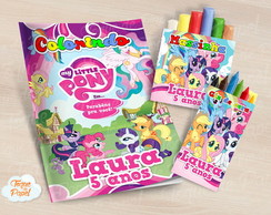 Kit colorir giz massinha My Little Pony