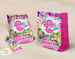 Kit colorir giz sacola My Little Pony
